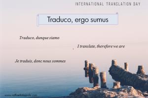 Traduco, ergo sumus