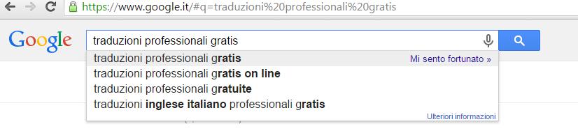traduzioni professionali gratis